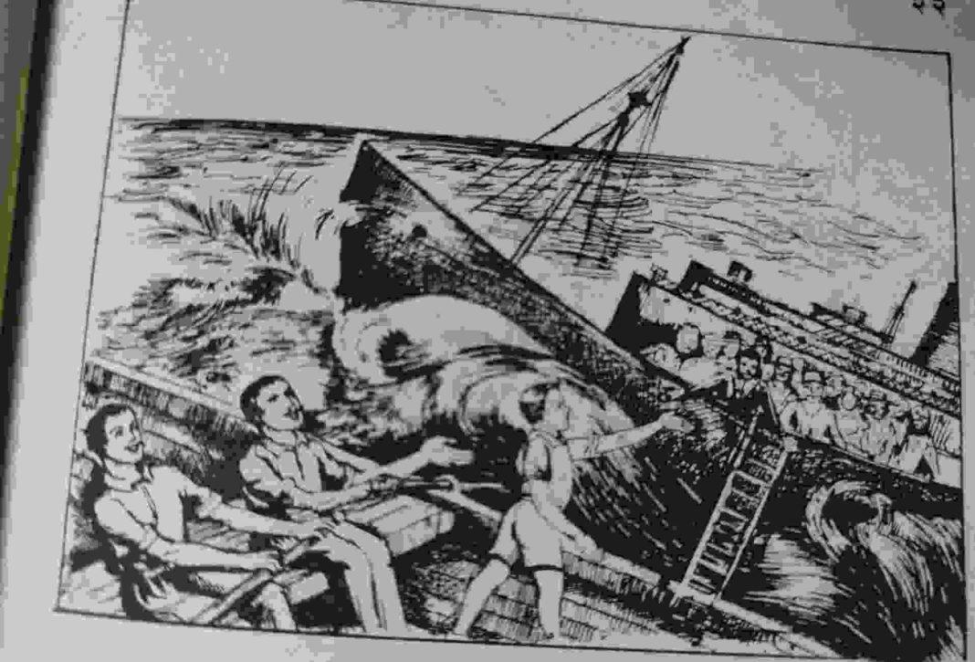बालक ने जहाज डूबने से बचाया
