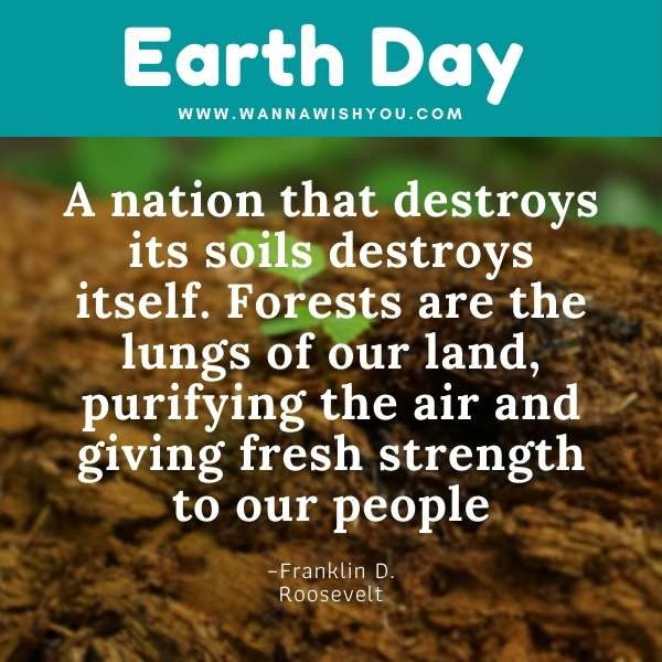 Earth Day Quotes : A nation that destroys its soils destroys itself. Forests are the lungs of our land, purifying the air and giving fresh strength to our people