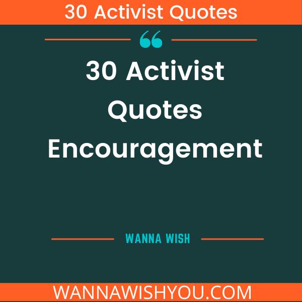 Activist Quotes