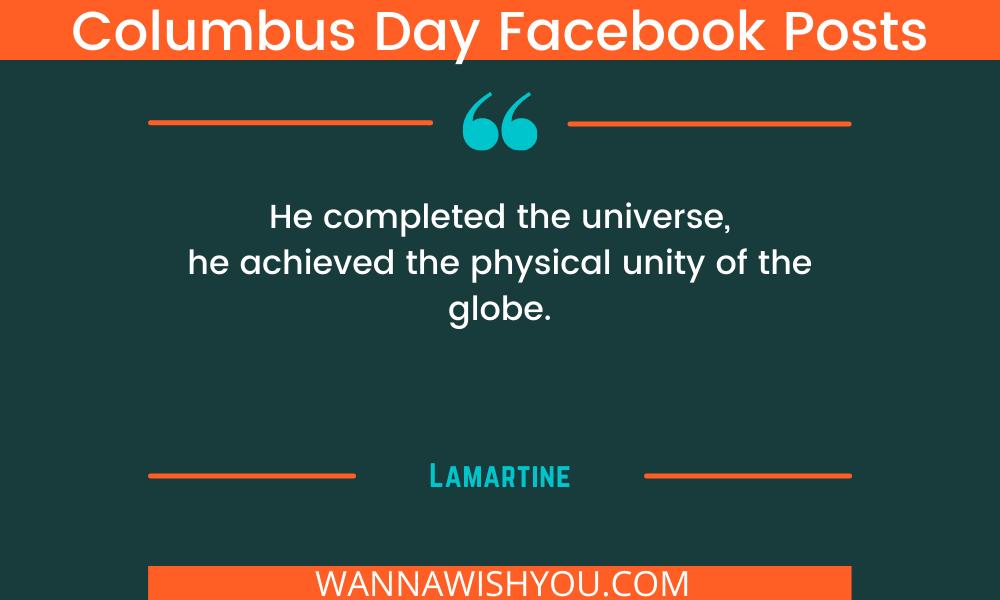 Columbus Day Facebook Posts