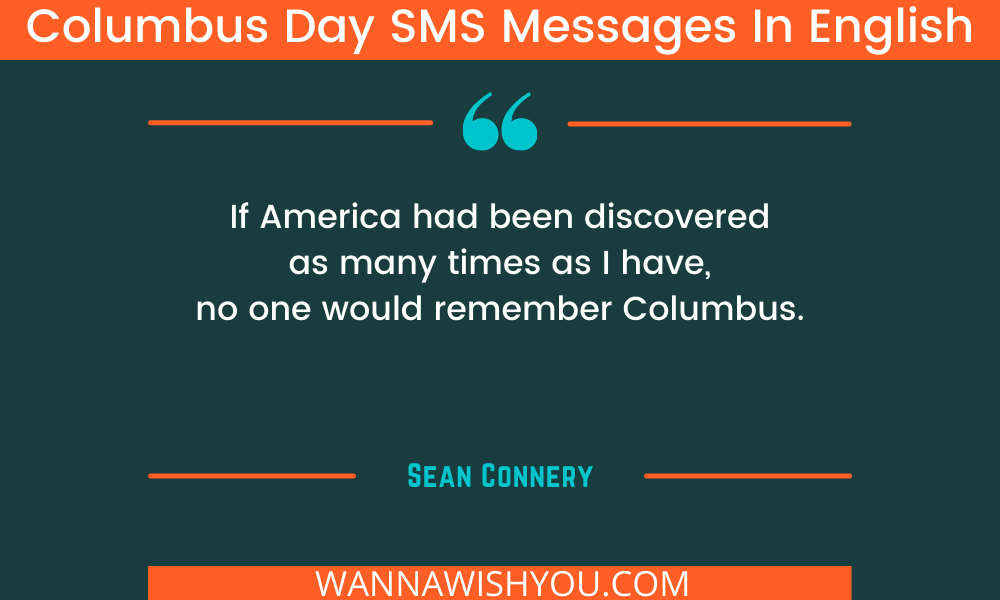 Columbus Day SMS Messages In English