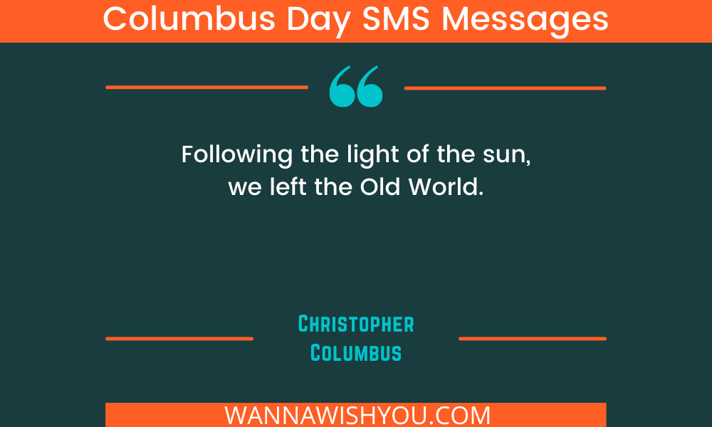 Columbus Day SMS Messages