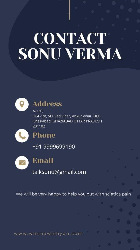 contact info for sciatica massage oil