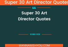 Super 30 Art Director quotes