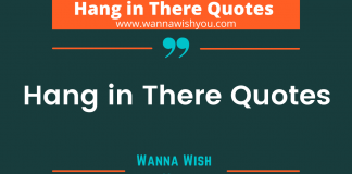 Hang in There Quotes post poster