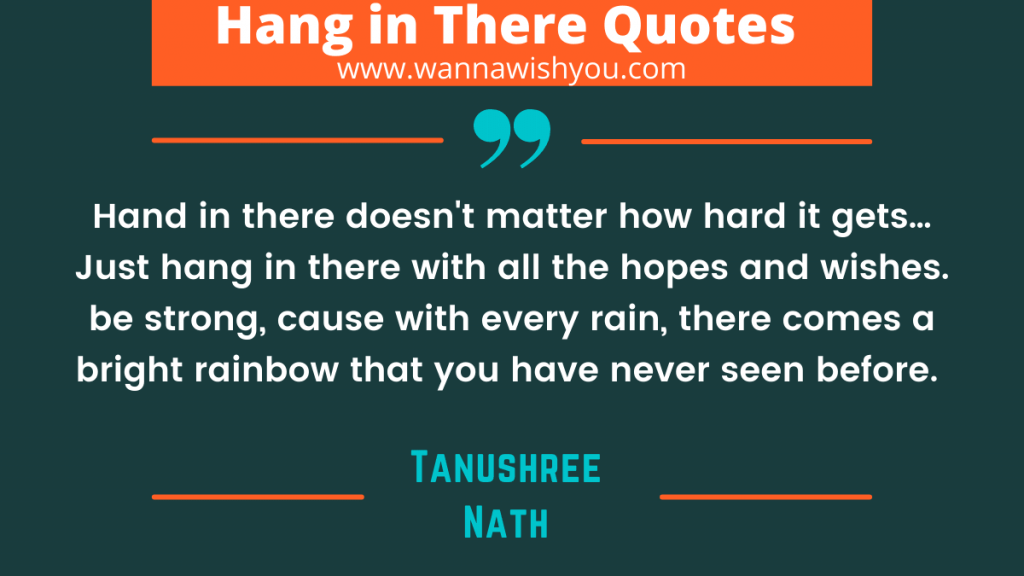 Focus Hang In There Quotes